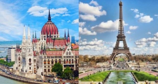 Летний Париж и Будапешт в сборке из Москвы - 9100₽ на все перелеты