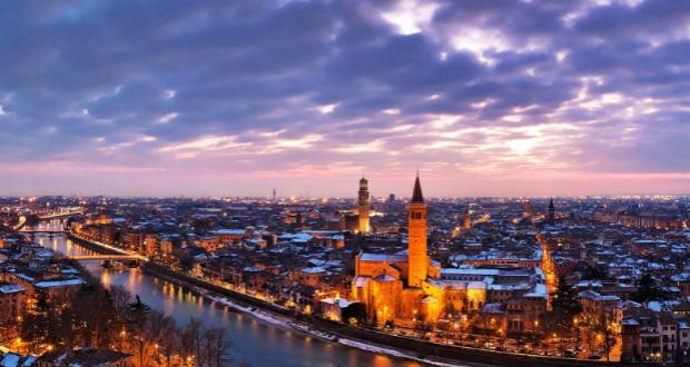 На 8 марта в город Джульетты: чартер Москва-Верона за 9600₽ туда-обратно.